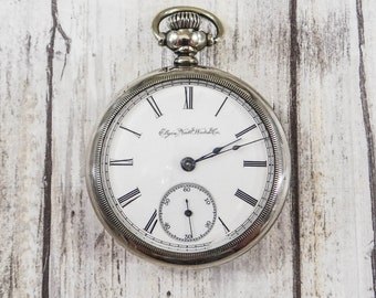 Antique Elgin Pocket Watch from 1889 in Working Condition