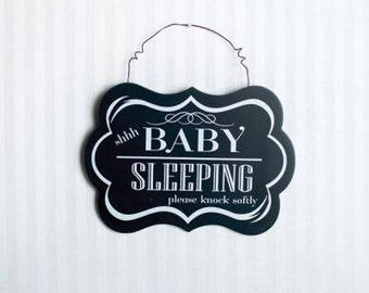 Shhh Baby Sleeping Sign