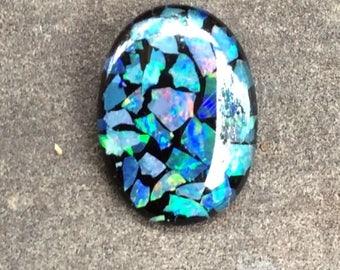 Australian Opal Mosaic-Art Stone Gemstones 18x13mm Oval Shape
