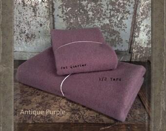 Wool: 1 YARD 100% Wool - ANTIQUE PURPLE - Marcus Fabrics