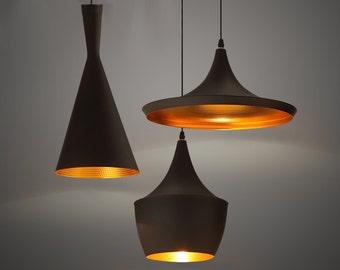 Ceramic lamp shade. Dome pendant light. Pendant lighting