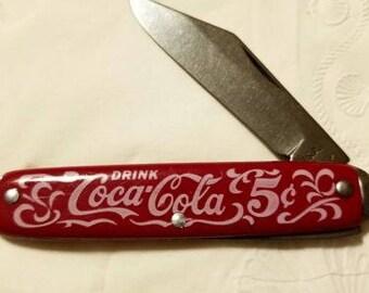 VINTAGE USA coca -cola coke pocket knife