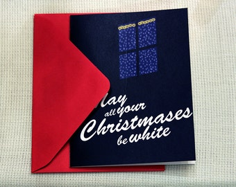 """SALE DIY Greeting Card - May All Your Christmases Be White Greeting card - Printable Christmas Card - Instant download - 4.25"""" x 5.5"""""""