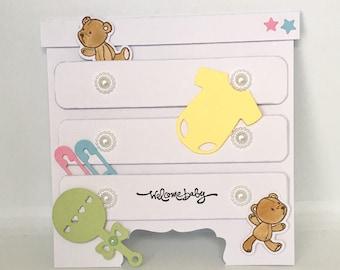Handmade baby shower/ new baby card