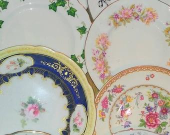 40 Job Lot Vintage Mismatched ... & Vintage mismatched plates   Etsy