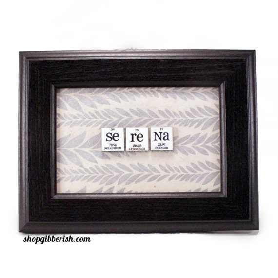 Science gift chemistry name sign periodic table of elements urtaz Image collections