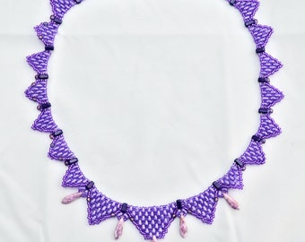 Purple Triangle Necklace