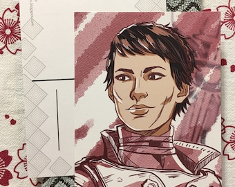 Dragon Age Inquisition Cassandra Pentaghast mini print postcard