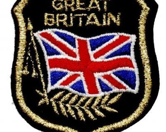 Great Britain Patch - Mylar, British Flag (Iron on)