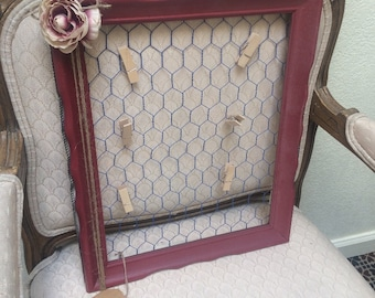 Country Cottage Chicken Wire Picture Frame