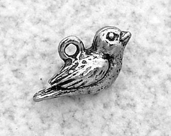 Green Girl Studios Pewter Tiny Bird Dangle Charm