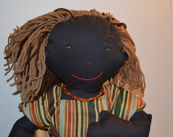 Black Stuffed Cloth Doll