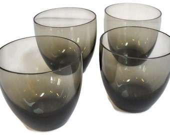 Smoked Glass Tumblers - Set of 4