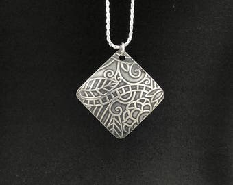 Sterling Silver Pendant with Sterling Silver Chain