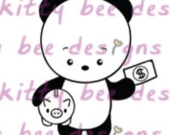 Pay Day Panda Digital Stamp