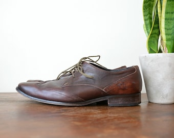 Paul Smith Shoes Lace Up Mens Business Brown Leather Shoes EU 41 1/2 US 8 UK 7 1/2