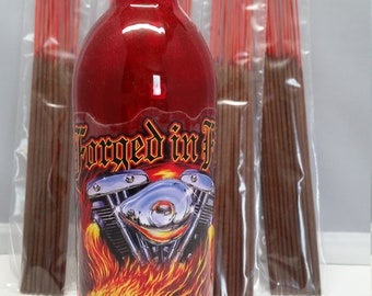 Forged in Fire incense holder  with 100 incense (choose five scents)