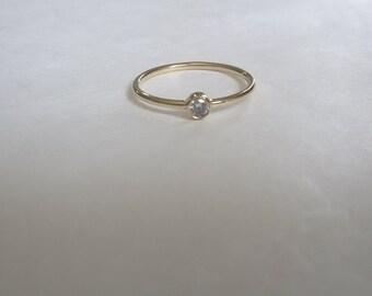 Gold Ring, 14k Gold Ring, White Ring Gold, Rose Gold Ring, Promise Gold Ring, Solitaire gold ring, Cz Gold Ring, Solid gold ring