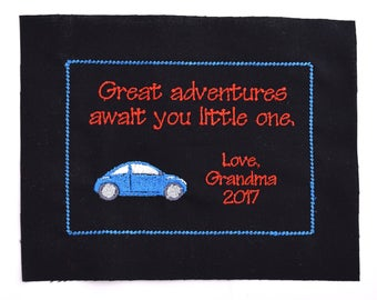 Custom Personalized Embroidered Quilt Label or Quilt Block Made to Order with Digitized Design