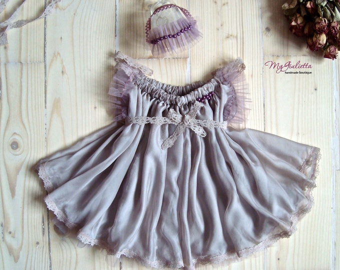 Photo Props Dress Newborn Dress Custom Girl Dress Sitter Size Prop Outfit Frills Girl Prop Outfit Pink Powder Baby Photography Easy to Dress