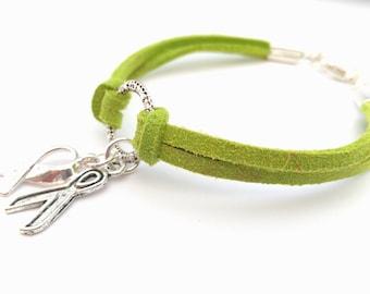 Lime Green Charity Awareness Bracelet Non-Hodgkin Lymphoma, Mental Health