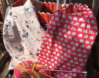 GIANT project bag for knitting , crochet and sewing