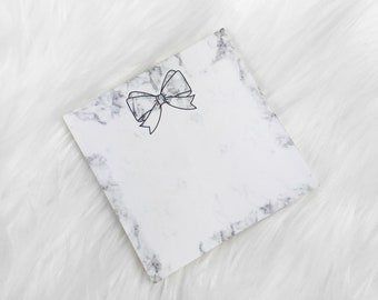NO COUPON CODES - Marble Bow // Sticky Notes