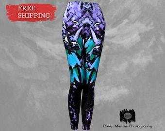 Artsy Fashion Leggings, Designer Art Tights, Funky Legging Stylish Womens, High Waisted, Thick Elastic Waist, Compression Fit, FREE SHIPPING