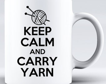 Yarn Mug,Knitting Mug,Gift For Knitters,Knitting Gifts,Yarn Gifts,Funny Knitter Gift