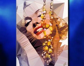 Marilyn Monroe art print signed by Baiba Auria ( artist, art print , gift, hollywood,vintage,pop art, icon,norma jean,sugar)