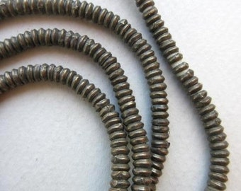 Old Silver Heishi Beads (4x2mm) [64849]