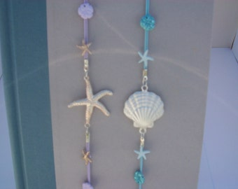 Sea Shell Bookmarks, Reserved for Patty