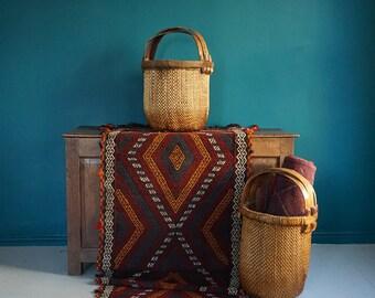 Handmade Afghan Suzni Kilim Carpet Runner