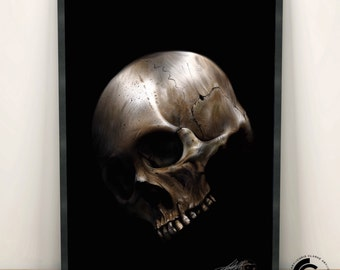 Limited Edition A3 Skull Print