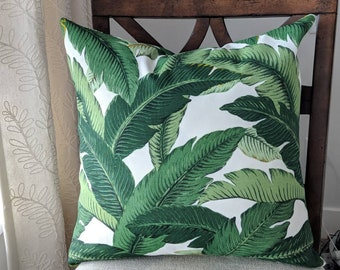 Indoor/Outdoor Tommy Bahama Palm Leaf Cushion Cover. Multiple Sizes Available