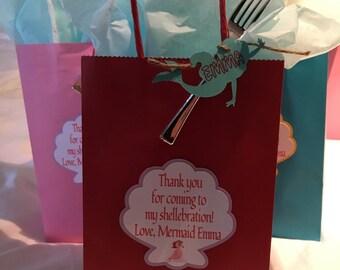 Little Mermaid Party Bags, Goodie Bags, Loot Bags, Birthday Party Bags