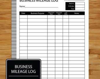 mileage log business mileage tracker coordinates with business planning set black and white