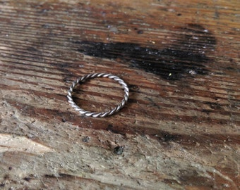 Twisted Silver Ring Vikings Celts Medieval