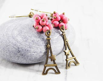 Paris jewelry eiffel tower jewelry paris gift travel jewelry paris charm earrings europe jewelry french jewelry from paris france earrings
