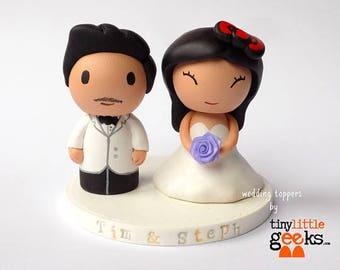 Wedding Cake Topper - Custom Bride and Groom