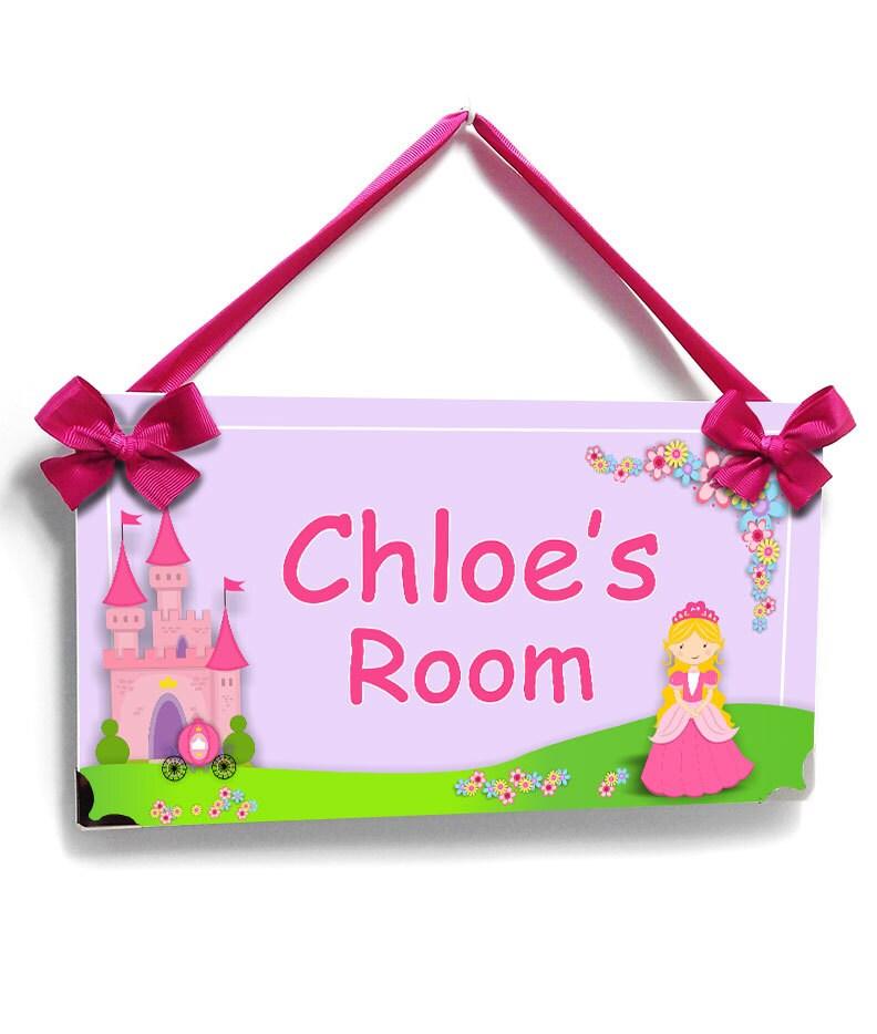 Cute Little Blonde Princess Castle Bedroom Door Sign Baby