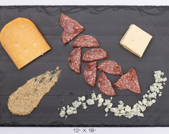 "Large Slate Cheese Board - 18"" x 12"" comes with one soapstone chalk"