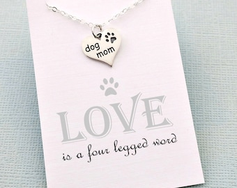 Dog Mom Gift | Dog Lover Gift, Paw Print Necklace, Heart Necklace, Puppy, Dog Gift, Pet Memorial, Pet Loss Gifts, Memorial Jewelry | P01