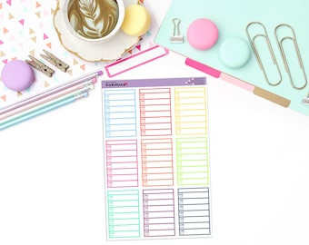 WEEKLY MEAL BOXES Paper Planner Stickers!