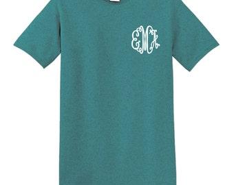 Monogram T-shirt, personalized t-shirt, custom t-shirt, personalized gift, custom gift, unique gift, cheap monogram t-shirt, monogram tee