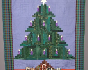 Patchwork log cabin Christmas tree
