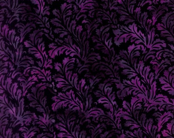 Hoffman Batik Handpaints L 2575 438 Leafy Crocus by the yard