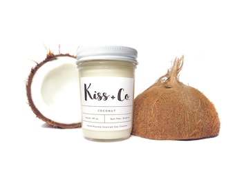 Coconut Soy Candle - 8oz Hand Poured
