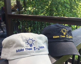 Make Time 2 Learn Embroidered Baseball Hat