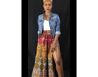 Polka Dot Maxi Skirt, Long Skirt